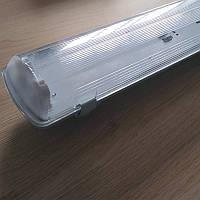 Корпус светильника под 2 LED лампы длиной 1200 мм пылевлагозащищенный IP65