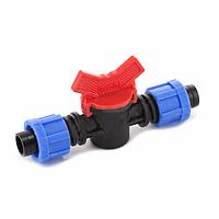 Кран для капельного полива LV-0117 проходной, для ремонта/соединения ленты, пластик, 50 шт./упаковка