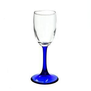 Рюмка для водки Pasabahce (голубая ножка), 73 мл (h=139мм,d=45х56мм), 4 шт. 440043