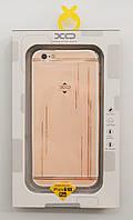 Чехол на Айфон 6 Plus/6s Plus XO ТПУ Стразы Дождик Прозрачный, фото 1