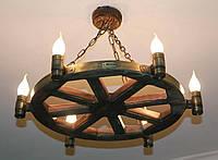 """Деревянный светильник """"Старое колесо"""", фото 1"""