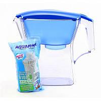 Фильтр - кувшин для воды Аквафор Лаки (2,8 л), голубой, с 1 картриджем.