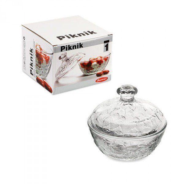 Сахарница с крышкой Pasabahce Piknik, h=122 мм, d=130 мм 97556
