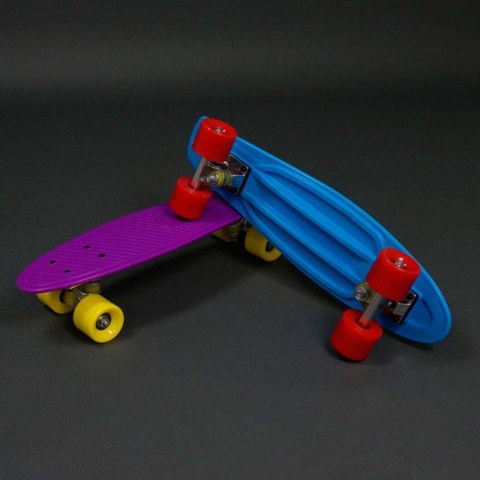 Скейт 780 (8) однотонный, колёса не светятся