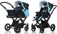 Универсальная коляска 2 в 1 ABC Design Avus for Babyzone Aqua-dark brown (61036/1016)