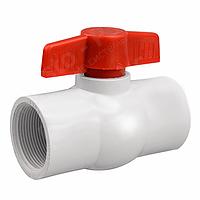 Кран шаровый для капельного полива PF-0140, внутренняя резьба 40 мм (1 ¼), белый, 10 шт./упаковка