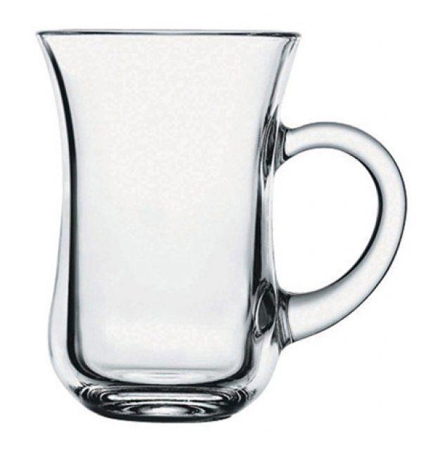Склянку з ручкою,турецьк. Pasabahce Keyif 145 мл (h=96мм d=66 ), 6 шт. 55411