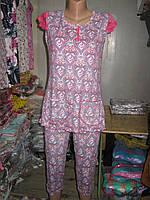Пижама футболка и капри Blue Night Бамбук