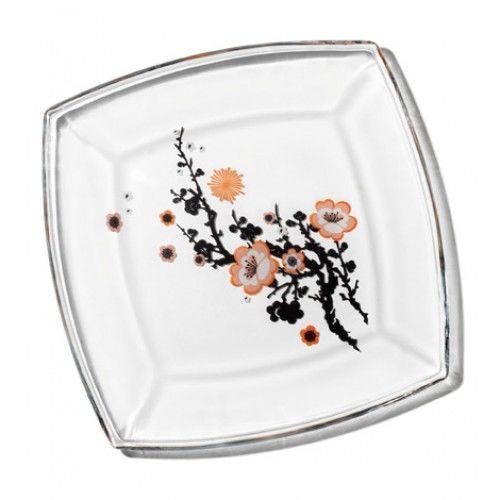 Тарелка (рис.Сакура), 195*195 мм Pasabahce Tokio, 6 шт. 54077