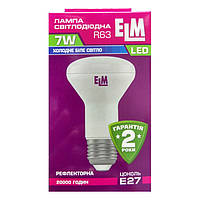 Лампа светодиодная ELM LED R63 7W  E27 4000K