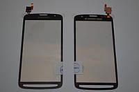 Оригинальный тачскрин / сенсор (сенсорное стекло) Samsung Galaxy S4 Active i9295 серый Synaptics самоклейка