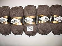 Пряжа для ручного вязания Alize LANAGOLD (Ализе ланаголд)   240 кофе с молоком