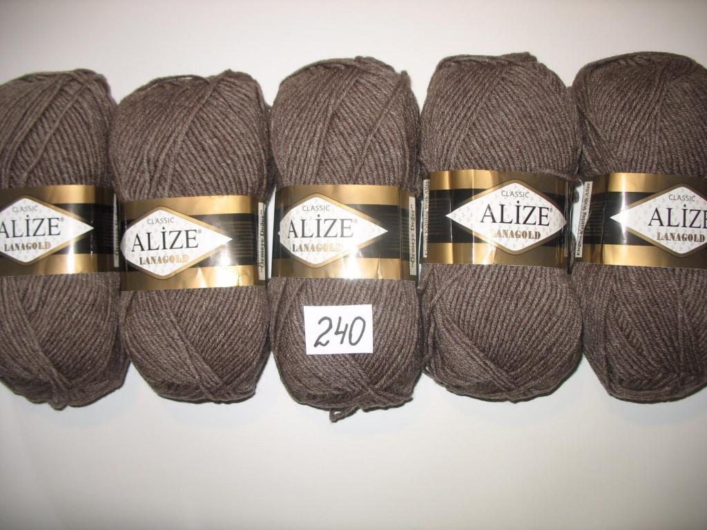 нитки для вязания ализе лана голд