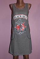 Туника-платье трикотажное в морском стиле