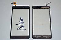 Оригинальный тачскрин / сенсор (сенсорное стекло) для Explay Pulsar (черный цвет) + СКОТЧ В ПОДАРОК