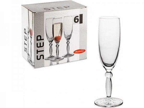 Флейта для шампанського Pasabahce Step, 170 мл (h=206мм,d=49х70мм), 6 шт. 44634