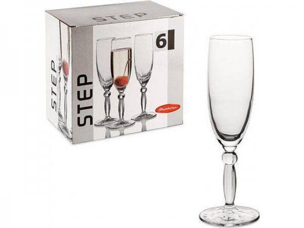 Флейта для шампанського Pasabahce Step, 170 мл (h=206мм,d=49х70мм), 6 шт. 44634, фото 2