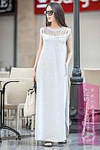 Молодежное платье из хлопка и вискозы S M