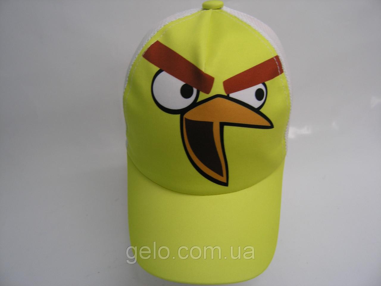 Кепка сетка - птица желтая