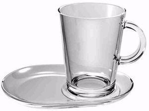 Чашка д/чая Pasabahce Tribeka с блюдцем., 400 мл, 2 шт.