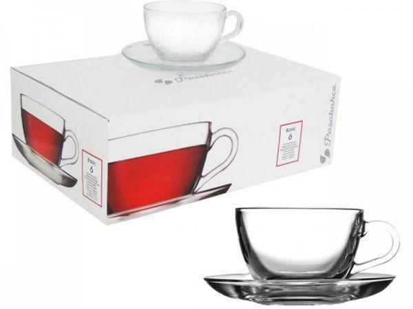 Чашка для кофе с блюдцем Pasabahce Basic, 90 мл (h=52мм,d=63х30мм,бл:d
