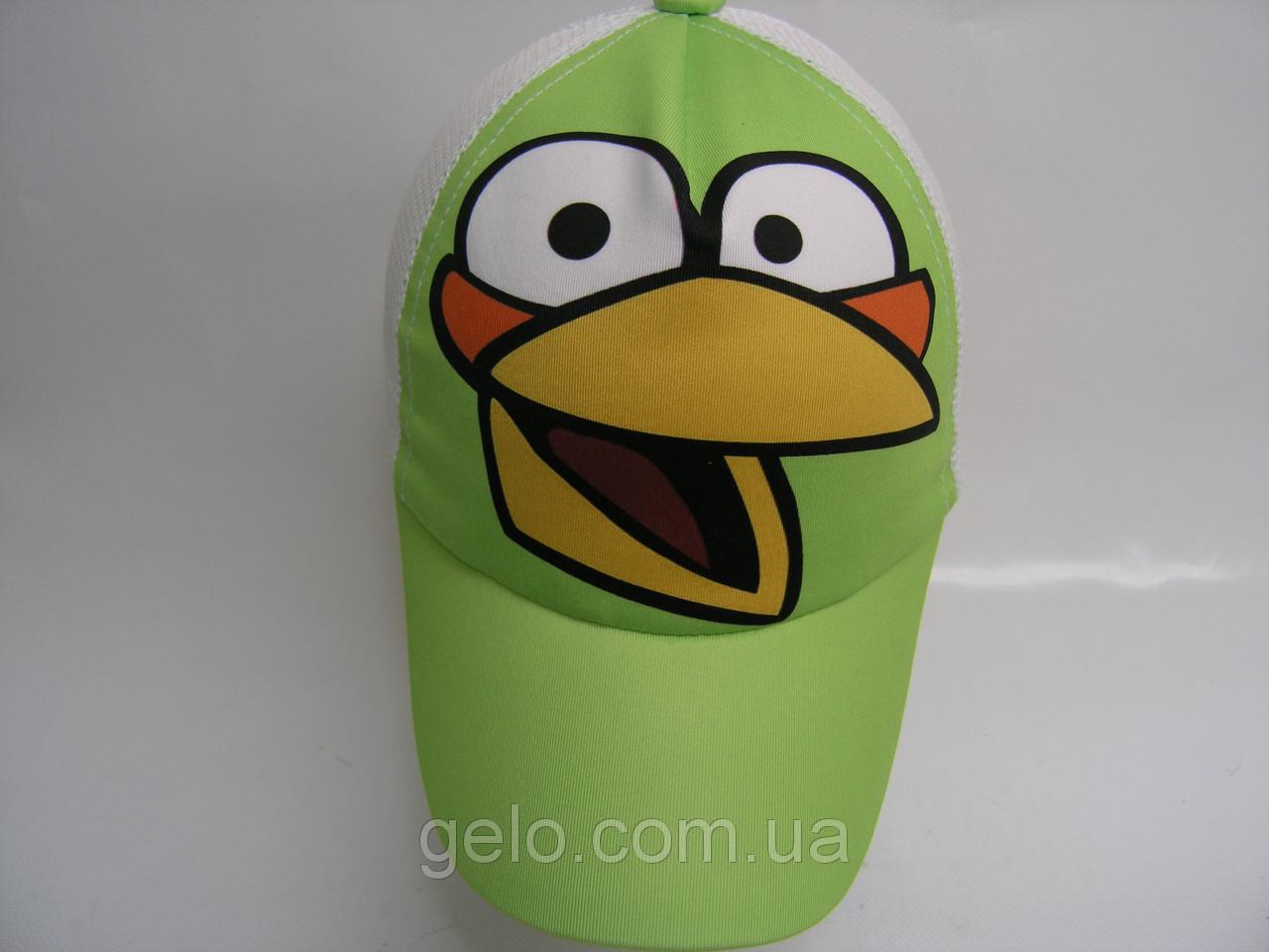 Кепка сетка - птица светло зеленая