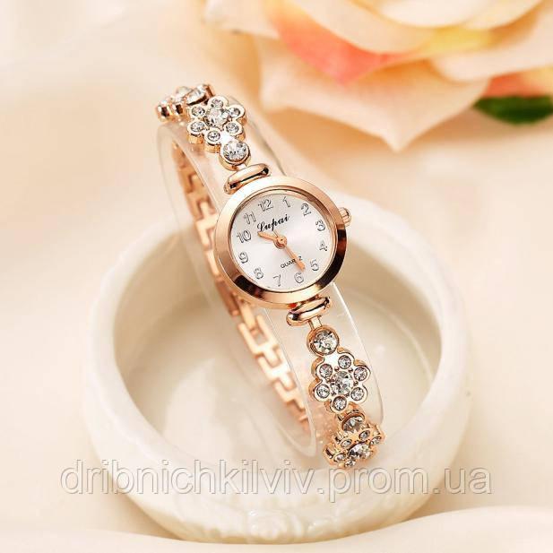 Шикарные позолоченые часы Код 041