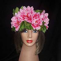 """Украинский веночек из цветов на голову """"Лилии"""""""
