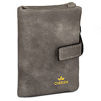 Компактное женское портмоне 3002 grey