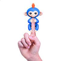 Интерактивная ручная обезьянка голубая Wow Wee Fingerlings (W3700/37030)