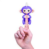 Интерактивная ручная обезьянка фиолетовая Wow Wee Fingerlings (W3700/37047)