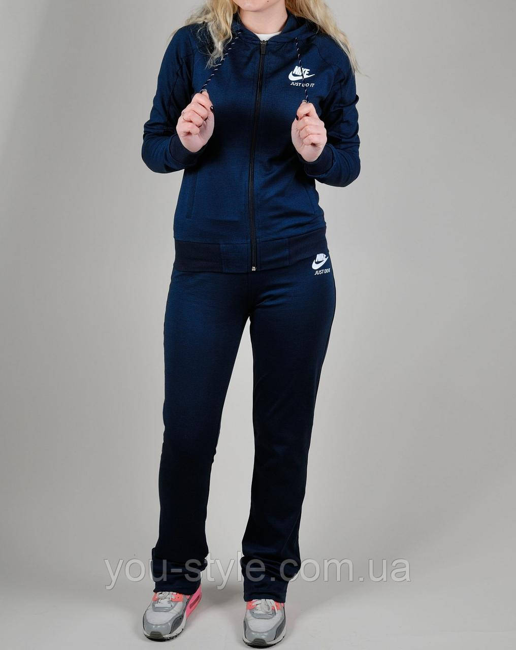 a0aca6c0 Женский спортивный костюм Nike 1143 Тёмно-синий - Интернет магазин