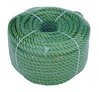 Веревка универсальная 30м 6мм зеленая, полиэстер