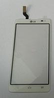 Тачскрин / сенсор (сенсорное стекло) для LG Optimus L9 II D605 (белый цвет)