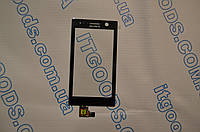 Оригинальный тачскрин / сенсор (сенсорное стекло) для Sony Xperia U ST25i (черный цвет) + СКОТЧ В ПОДАРОК