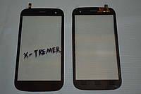 Оригинальный тачскрин / сенсор (сенсорное стекло) для Explay X-Tremer (черный цвет) + СКОТЧ В ПОДАРОК