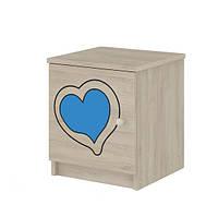 Тумбочка гравированная голубое сердечко Baby Boo 100035