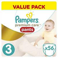 Подгузники-трусики Pampers Premium Care 3 (6-11 кг) 56 шт