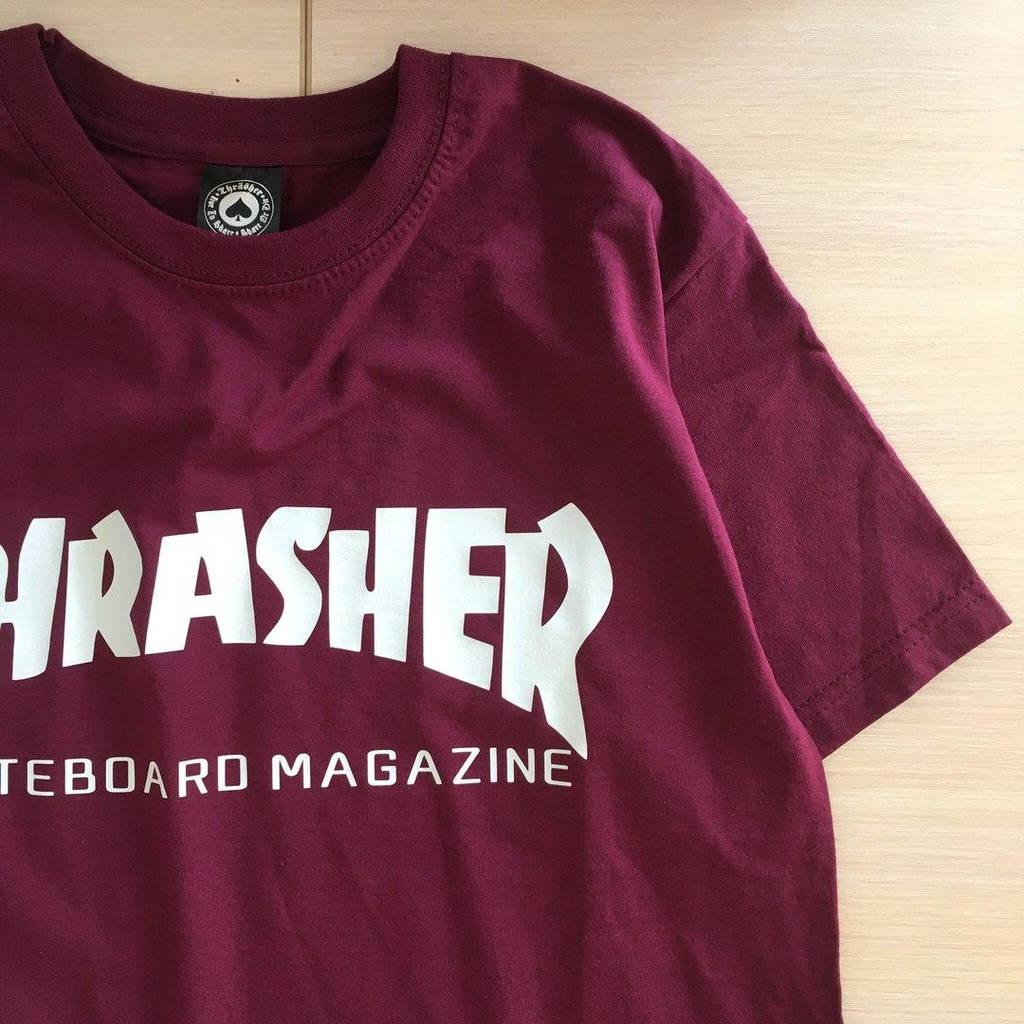 Thrasher Skateboard Magazine футболка бордовая \ Бирка