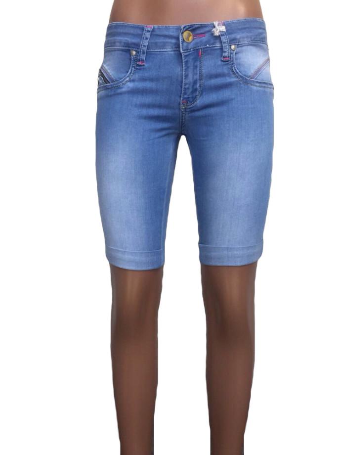 Джинсовые женские шорты just point 023 голубые