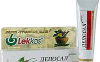 Мазь Депосал Леккос для удаления солей при шпоре, косточке, подагре 15 г