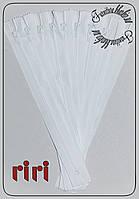 Молния брючная RIRI (Швейцария) №3 18см белого цвета.