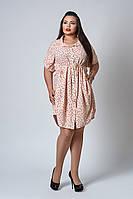 Платье мод №519-1, размер 54 розовое перо, фото 1