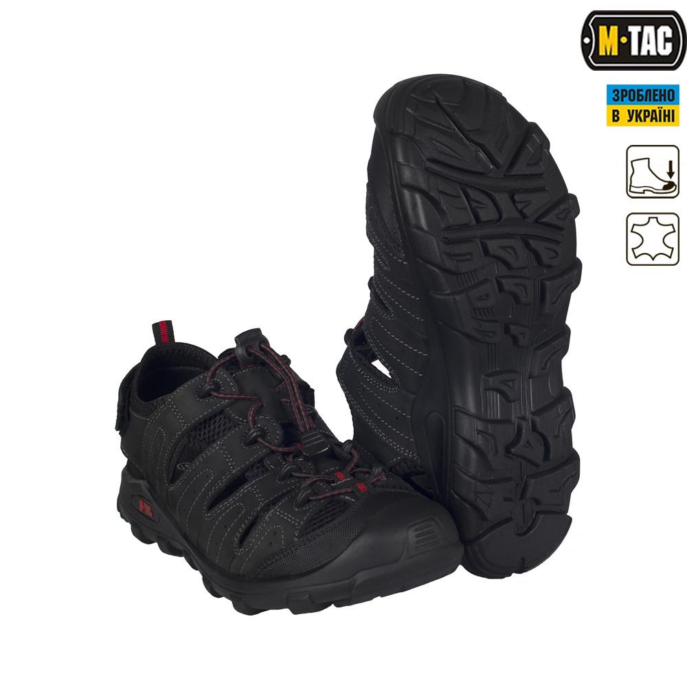 M-Tac сандали кожаные черные