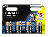 Батарейки Duracell AA (LR6) MX1500 Turbo 8 шт.