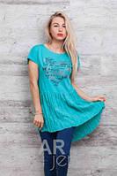 Модная Футболка  туника женская 46-48, доставка по Украине