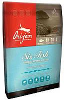 Orijen Adult 6 Fish 2,27кг- беззерновой корм для всех пород котов и котят с рыбой