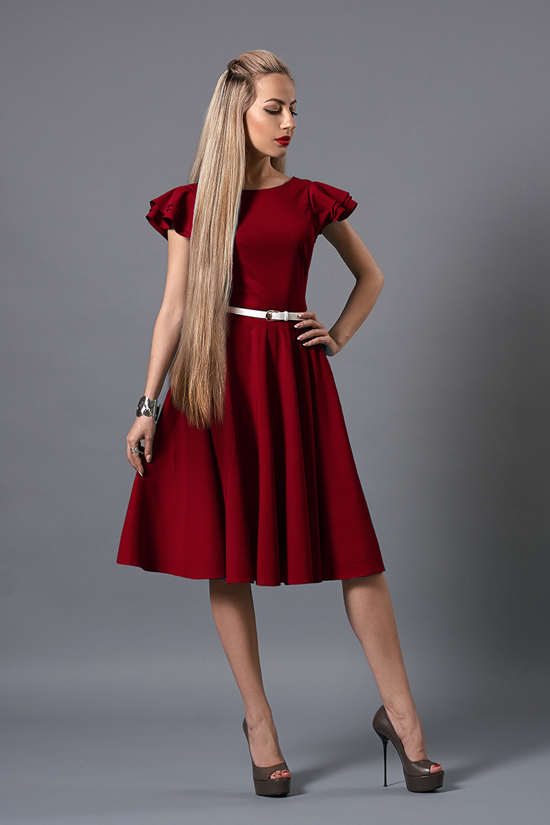 Сукня мод 522-3 розмір 42-44 бордо