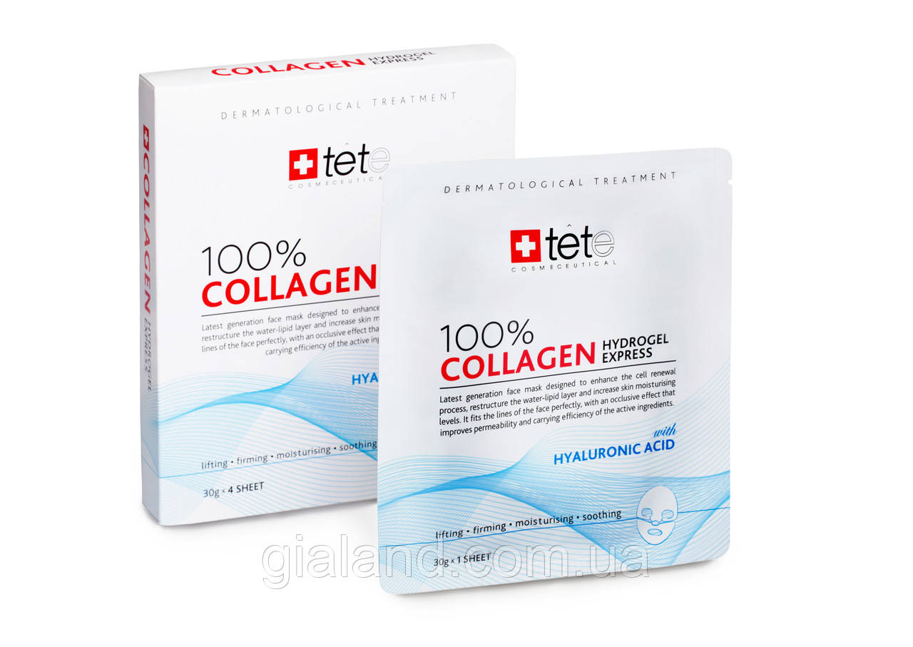 Гидрогелевая коллагеновая маска Collagen Hydrogel Express TETe Cosmeceutical, Швейцария,1уп-4шт