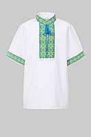 Вышитая рубашка для мальчика с коротким рукавом